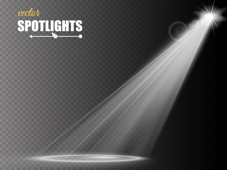 spotlight: Vector Spotlights. Scene. Light Effects. Vector illustration