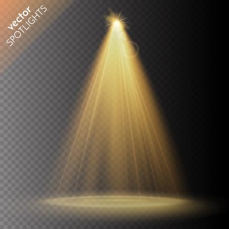 ベクトルのスポット ライト。シーン。光の効果。ベクトル図