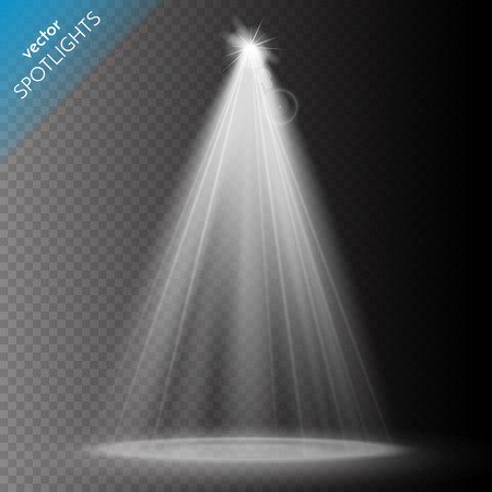 Vector Spotlights. Scene. Light Effects. Vector illustration