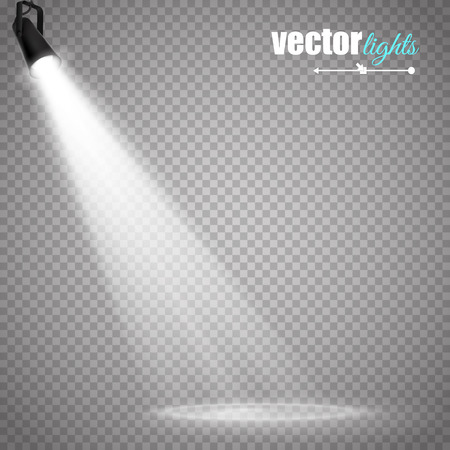 Abstract  Vector Spotlight isolated on transparent background. Light Effects. Stock Illustratie