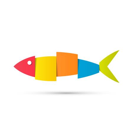 Fisch-Logo-Design Vektor Hintergrund. Vektor-Illustration Logo