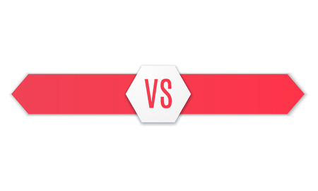 Versus icoon. VS Vector Letters Illustratie. Concurrentie Icon. Fight Symbol. Vector Stock Illustratie