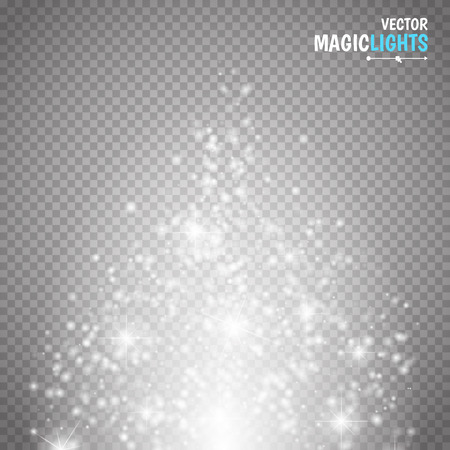 special effect: Magic light vector effect. Glow special effect light, flare, star and burst. Isolated spark. vector illustration