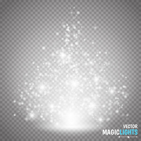 Magic light vector effect. Glow special effect light, flare, star and burst. Isolated spark. vector illustration