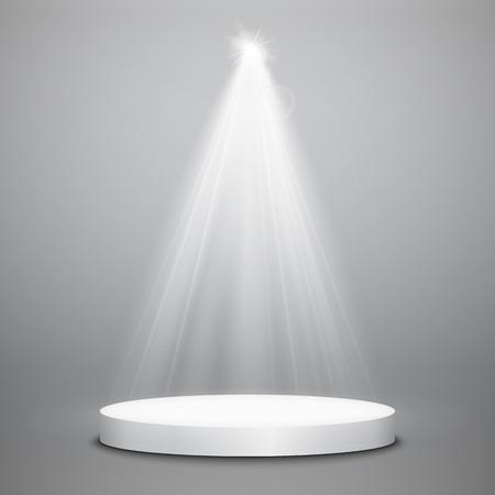 Abstract  Vector Spotlight isolated on transparent background. Light Effects. Ilustração