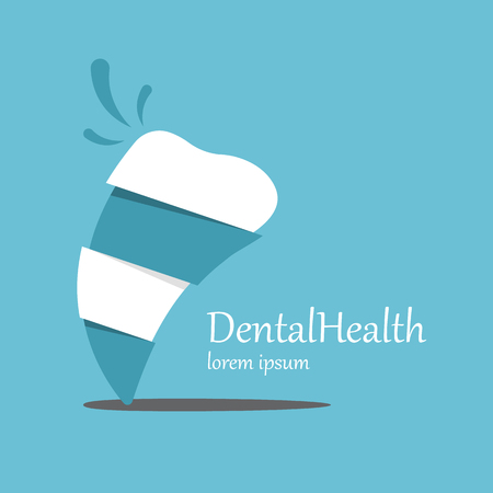 oral care: Tooth Icon vector template. Health, medical or doctor and dentist office symbols. Oral care, dental, dentist office, tooth health, tooth care, clinic. Tooth icon.