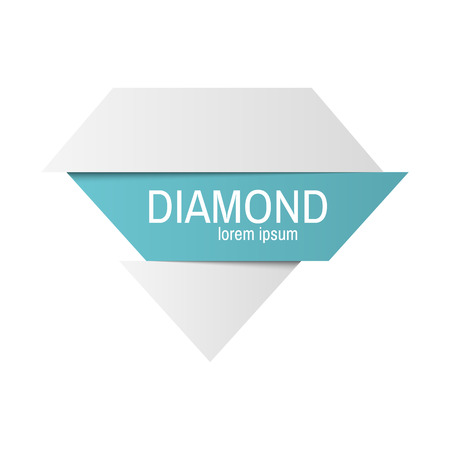 gemstone: Diamond isolated. Brilliant gemstone sign. Vector illustration Illustration