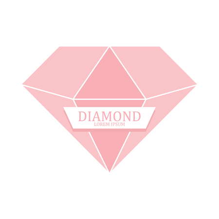 Diamond icon isolated. Brilliant gemstone sign. Vector illustration