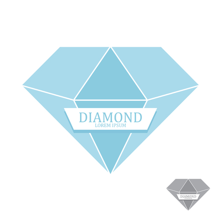 gemstone: Diamond icon isolated. Brilliant gemstone sign. Vector illustration