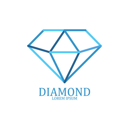 Diamond logo geïsoleerd. Brilliant edelsteen teken. vector illustratie Stockfoto - 55755799