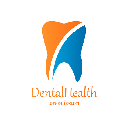 Tooth Icon vector logo template. Tooth creative symbol. Vector illustration Vettoriali