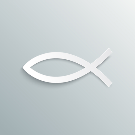 pez cristiano: Símbolo cristiano de los pescados. Ilustración del vector. cristiano signo