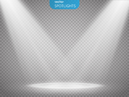 illuminations: Vector isolated spotlight. Scene illumination. Light effect. Vector illustration
