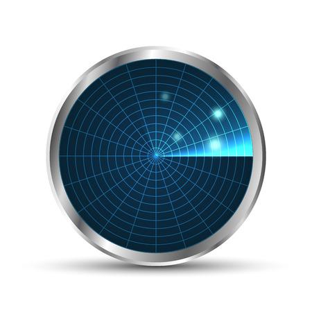 radar: Radar icon. Illustration on white background for design.Vector . Radar monitor with scanning. Vector illustration