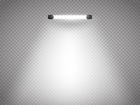 limelight: Vector isolated spotlight. Scene illumination. Light effect. Vector illustration