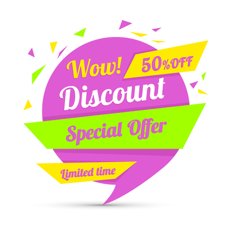 sale sticker: Discount sticker. Special offer vector isolated. Promotion sticker. Sale limited offer sticker. Advertisement tag. Sale poster. Vector illustration. Sale background