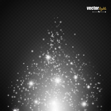 special effect: Magic light vector effect. Glow special effect light, flare, star and burst. Isolated spark. Vector illustration Illustration