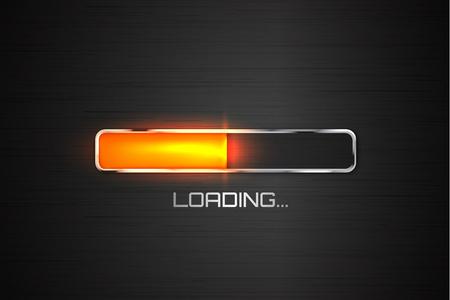 Orange Vector Fortschritt Ladebalken. Vektor-Illustration Vektorgrafik
