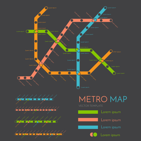 Metro Or Subway Map Design Template City Transportation Scheme Royalty Free Cliparts Vectors And Stock Ilration Image 58730471