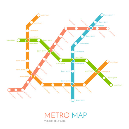 rapid: metro or subway map design template. city transportation scheme concept. rapid transit vector illustration