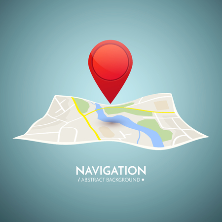 Gps navigation vector concept. Vector technology background