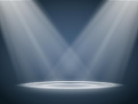 stage projector: Vector Spotlights. Scene. Vector transparent Light Effects Illustration