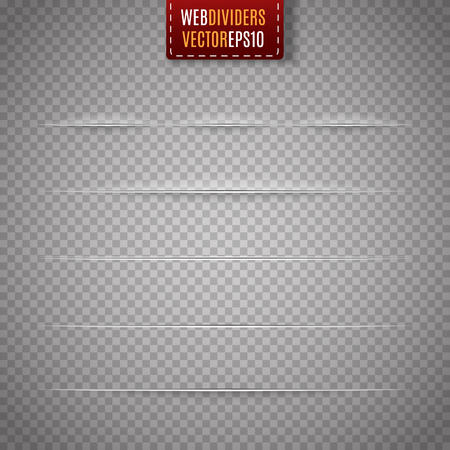 web site: Set of web dividers isolated on transparent background. Vector illustration