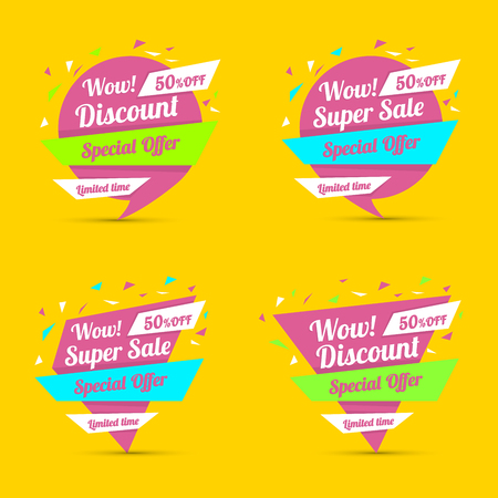 sale tag: Discount sticker. Special offer vector isolated. Promotion sticker. Sale limited offer sticker. Advertisement tag. Sale poster. Vector illustration. Sale background