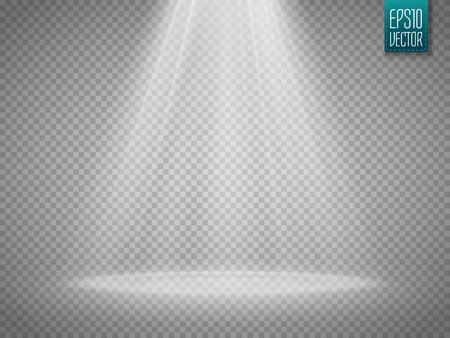 Vector Spotlights. Scene. Vector transparent Light Effects Stock Illustratie
