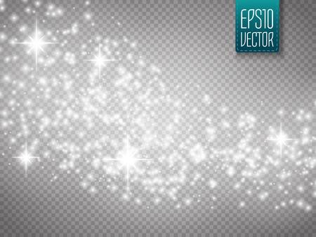 polvo: brillo del oro del vector de onda de fondo abstracto. Oro brillante estrella estela de polvo partículas brillantes en el fondo transparente. fondo mágico