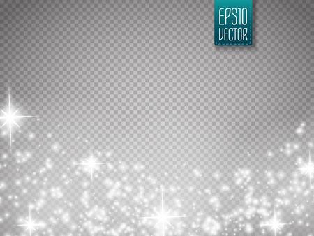 Glow Spezialeffektlicht, Fackel, Stern und platzen. Isolierte Funken. Vektor-Illustration Standard-Bild - 58730602