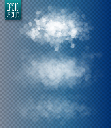 special effect: Set of vector isolated clouds. Transparent special effect. Vector illustration Illustration