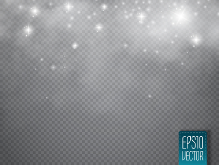 cloudiness: Fog or smoke with glow light isolated transparent special effect. White vector cloudiness, mist or smog background. Magic template. Vector illustration