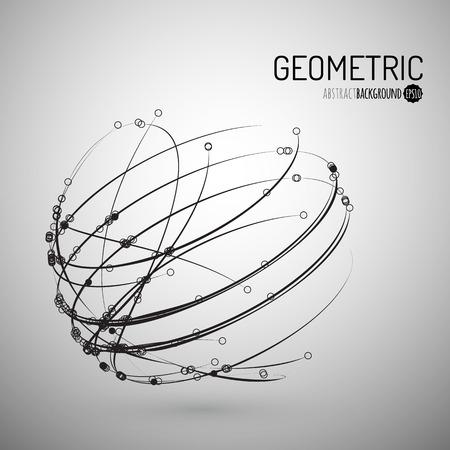 3d vettore sfondo geometrico per la presentazione di affari o la scienza.