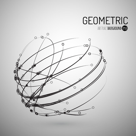 vector background: 3d geometric vector background for business or science presentation.