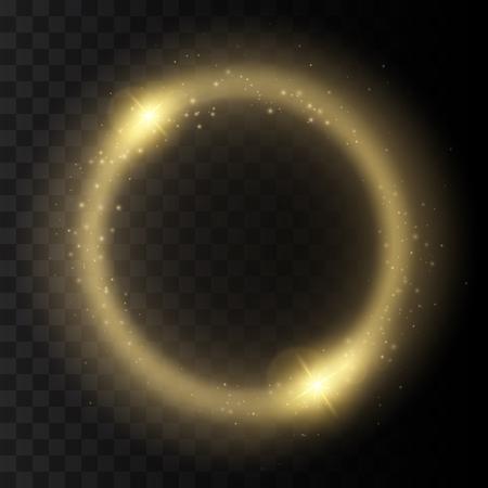 lucero: Fondo redondo brillante marco con las luces. resumen del anillo de luz de lujo. ilustración vectorial