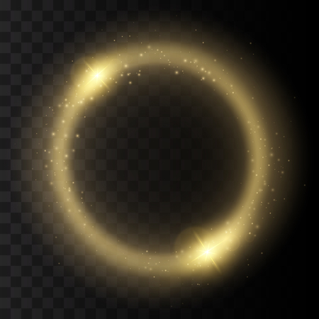 shine background: Round shiny frame background with lights. Abstract luxury light ring. Vector illustration