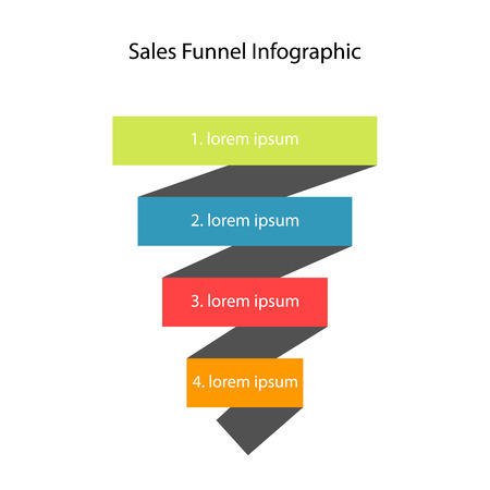 funnel: Vector illustration of sales funnel. Business concept