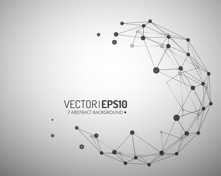 3d geometric vector background for business or science presentation. Vector illustration