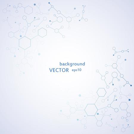deoxyribose: DNA molecule structure background. eps10 vector illustration Illustration