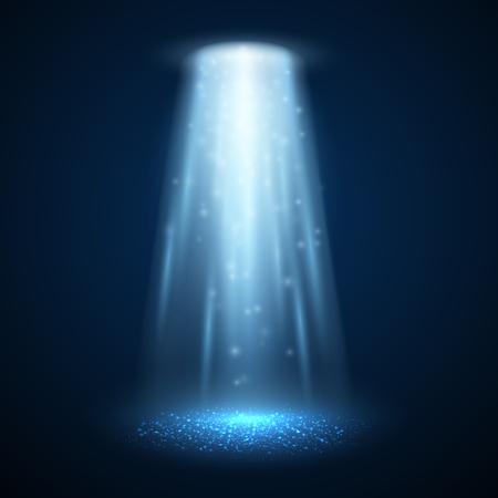 spotlight: UFO light beam isolated. Magic spotlight. Vector illustration
