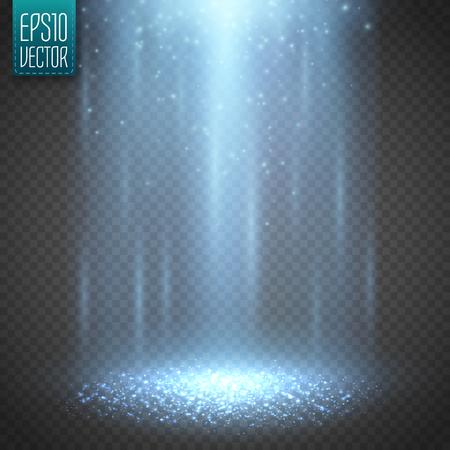 beam of light: UFO light beam isolated on transparnt background. Vector illustration