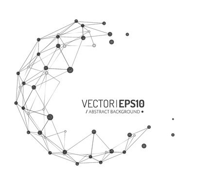 3d geometric vector design for business or science presentation. Vector illustration