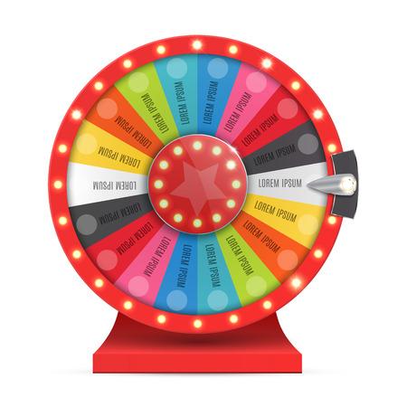 ruota colorata di fortuna o la fortuna infografica. illustrazione di vettore Vettoriali
