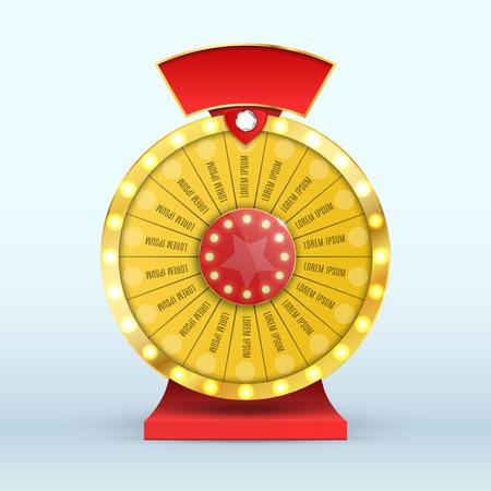 Kleurrijke wiel van geluk of fortuin infographic. vector illustratie