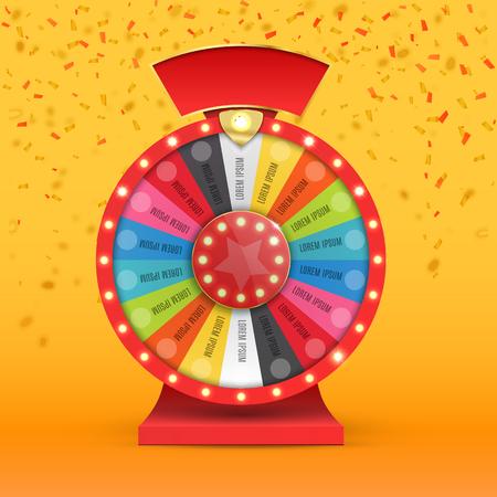 bonne aventure: roue colorée de la chance ou de la fortune infographique. Vector illustration Illustration