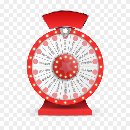 spin: Colorful wheel of luck or fortune infographic. Vector illustration