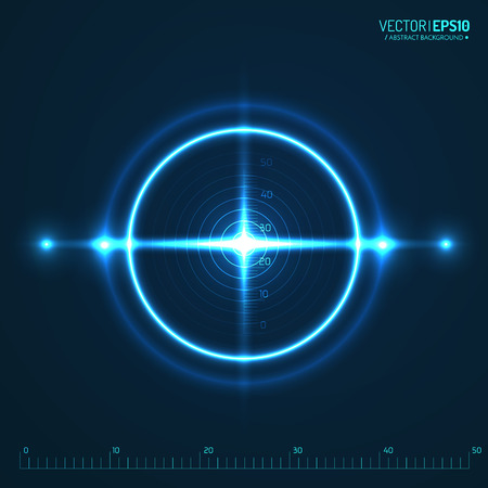 Neon Target isolated. Game Interface Element. Vector illustration Illustration
