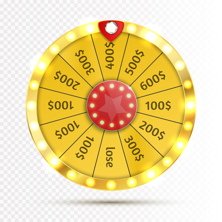 Colorful wheel of luck or fortune infographic. Vector Ilustrace