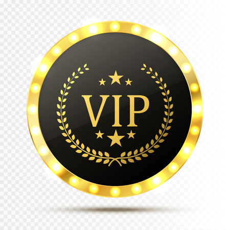 platinum: Vip invitation with golden badge, vector Illustration